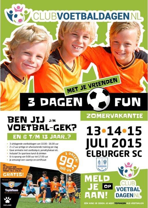 Poster Elburger SC met logo