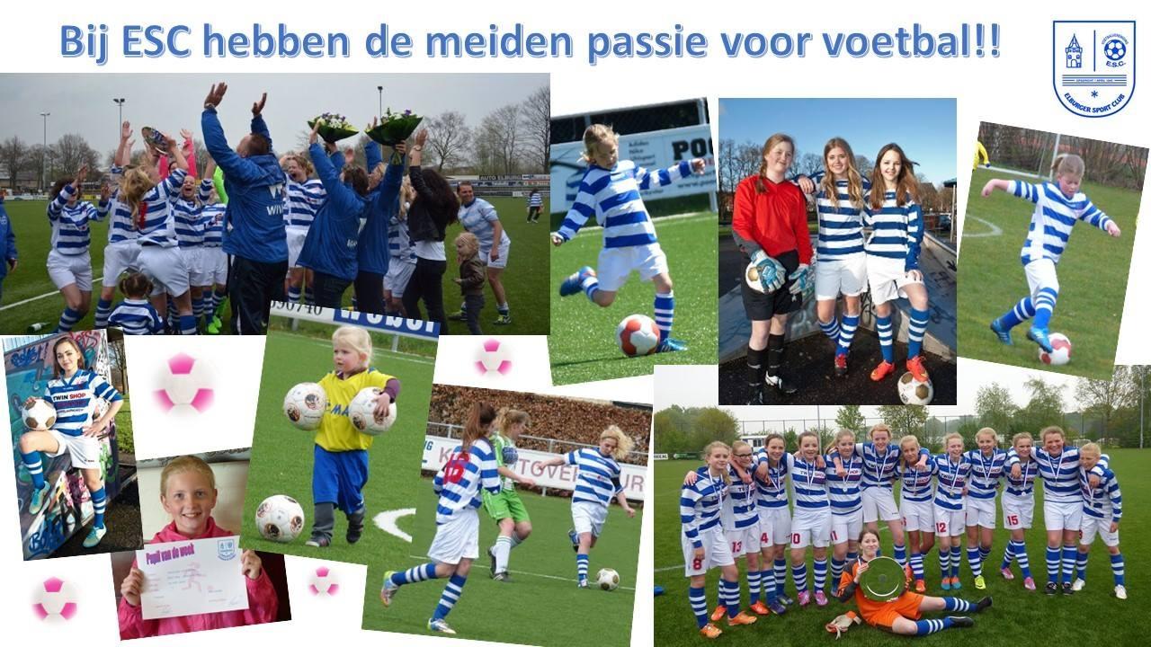 ESC zoekt meisjes en vrouwen met passie voor voetbal!