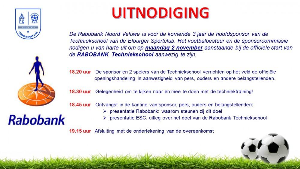 Uitnodiging kick off Rabobank Techniekschool ouders-belangstellenden