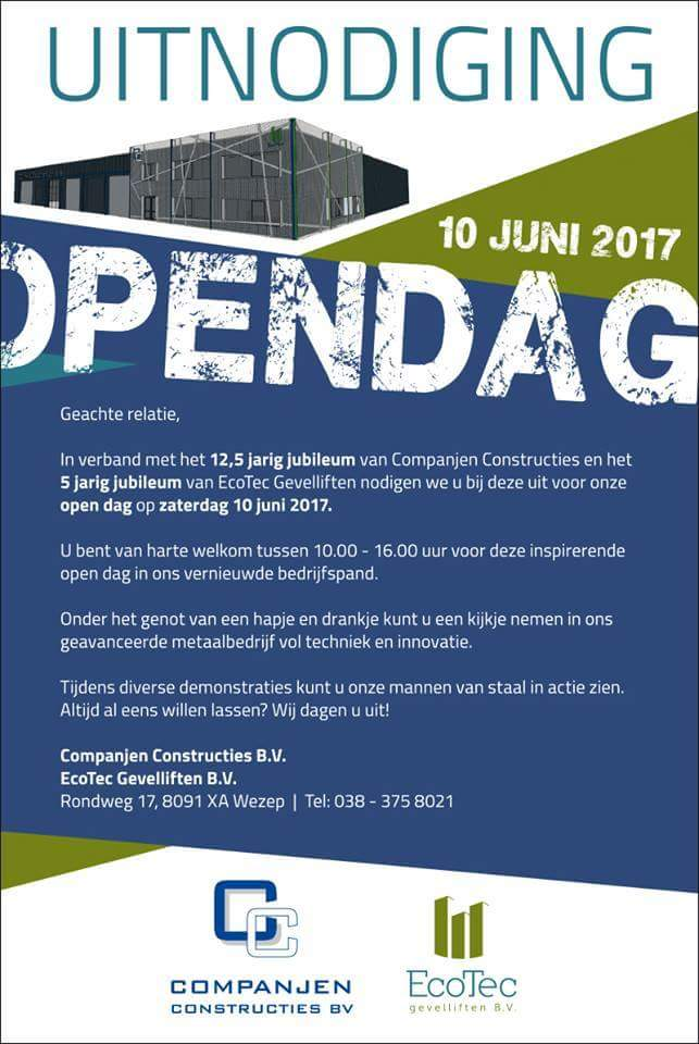 Open dag Companjen Constructies in Wezep - Elburger SC