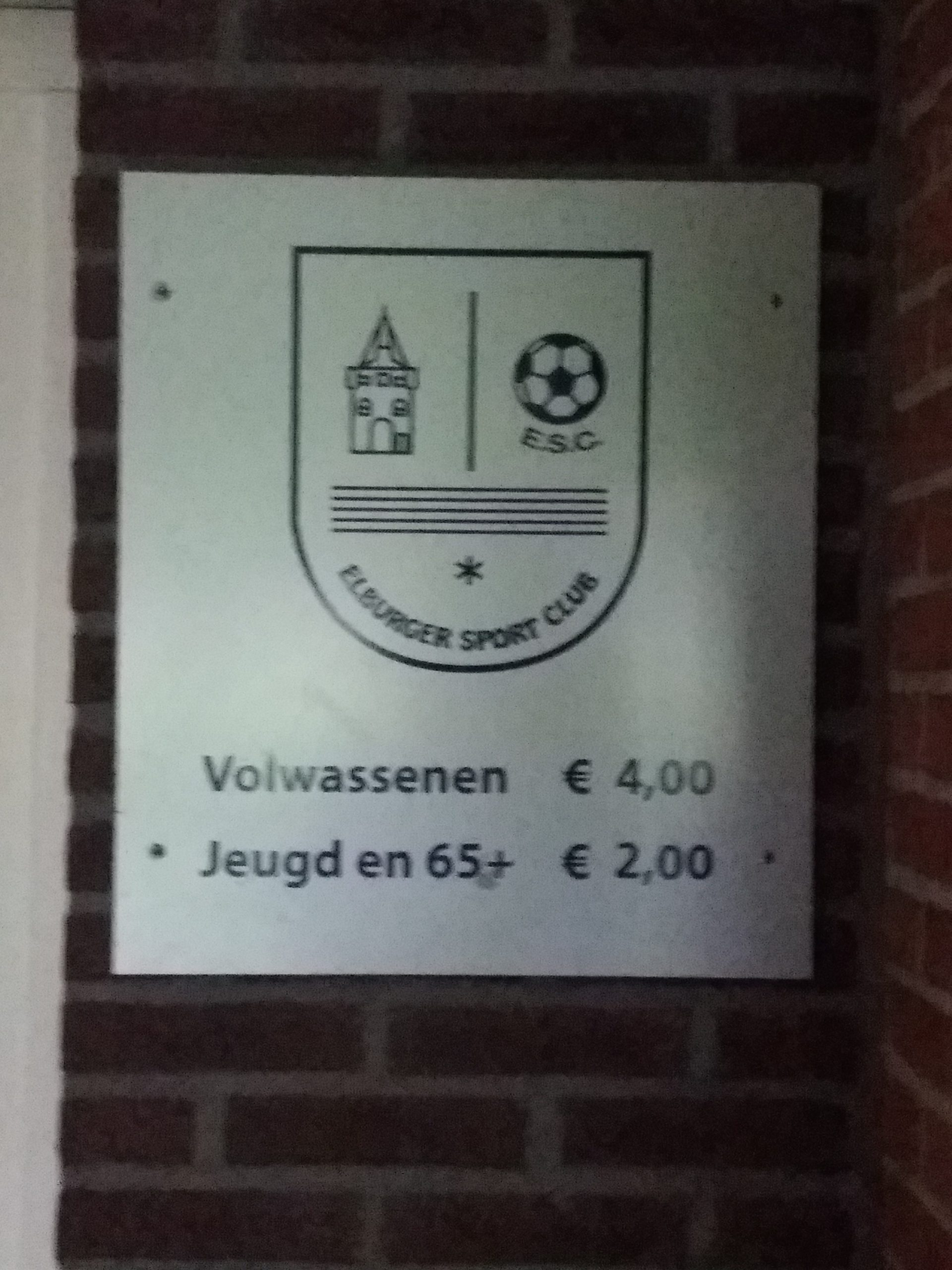 Controle entreekaarten thuiswedstrijden Elburger SC - Elburger SC
