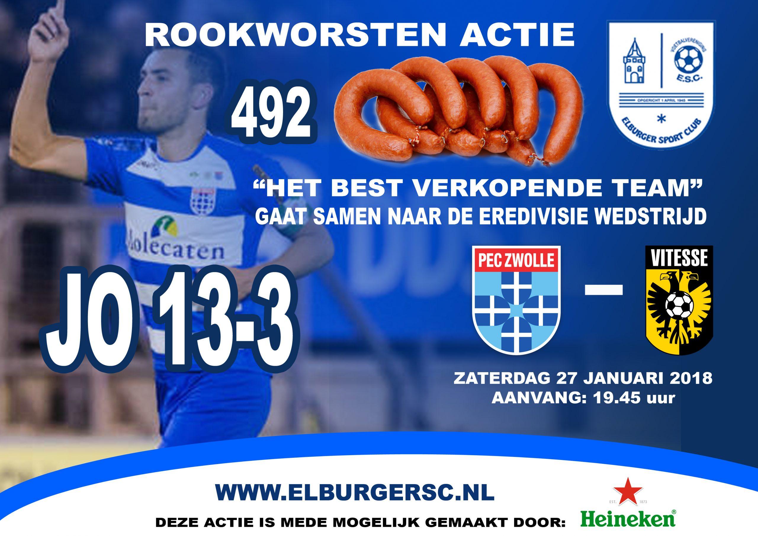 JO13-3 best verkopende team - Elburger SC