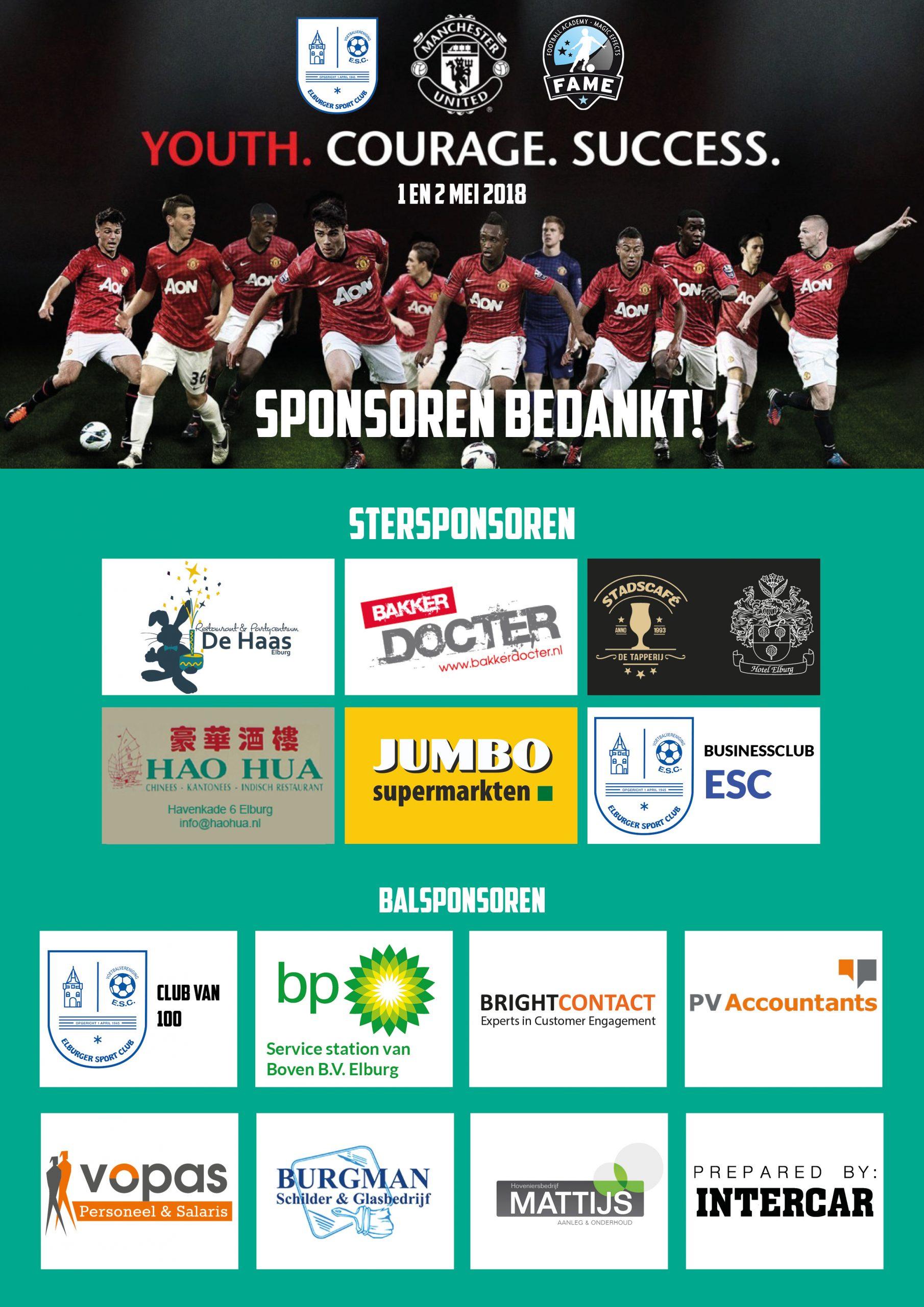 Sponsoren bedankt! - Elburger SC