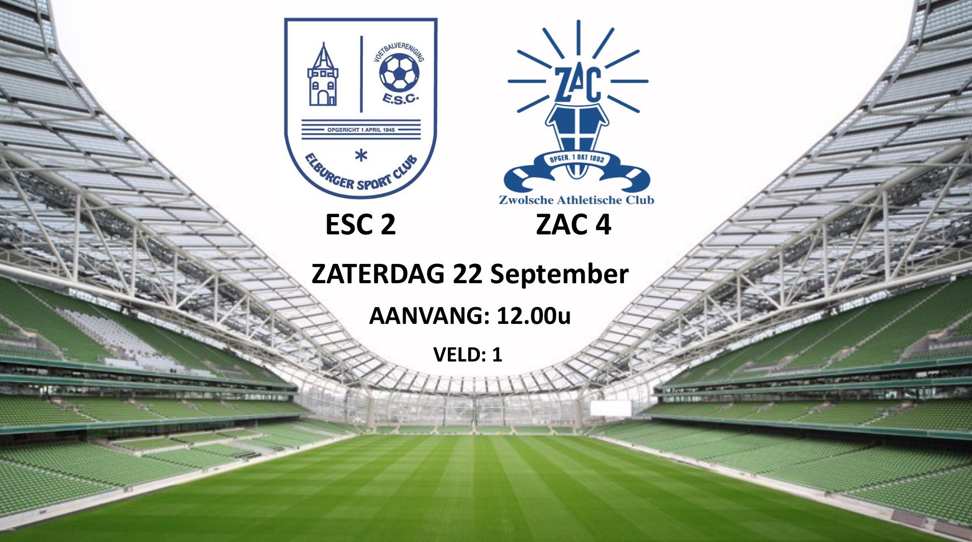 ESC 2 – ZAC 4 - Elburger SC