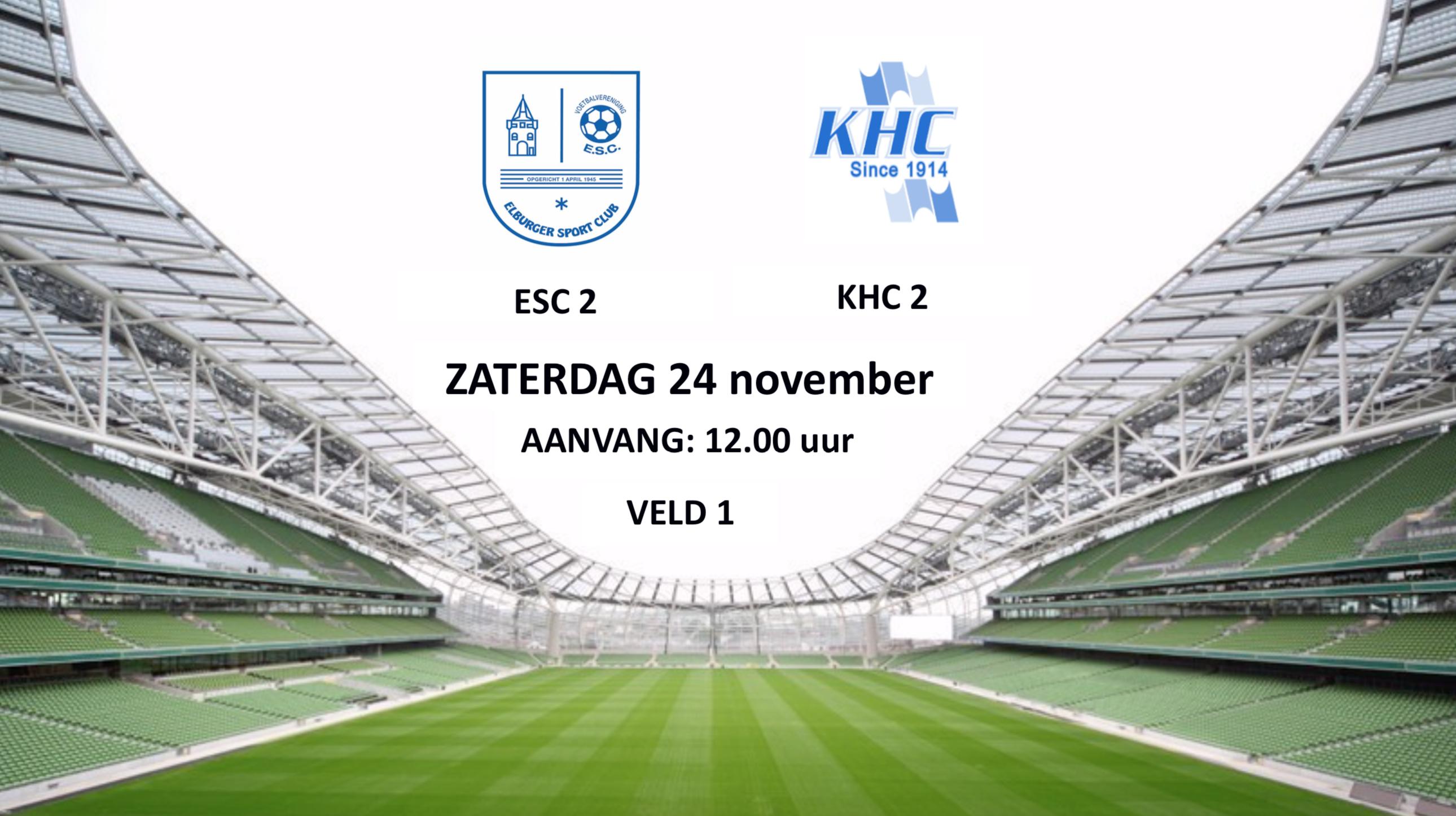 Morgen ESC 2 – KHC 2 - Elburger SC