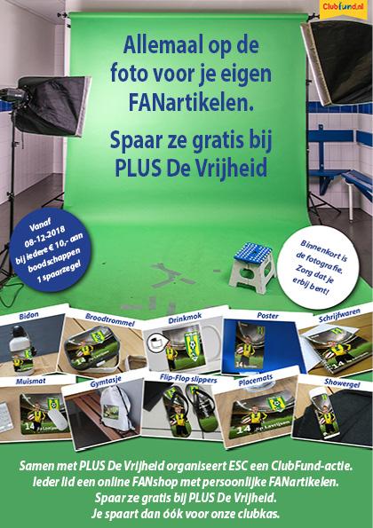 ESC start unieke spaaractie samen met PLUS De Vrijheid - Elburger SC