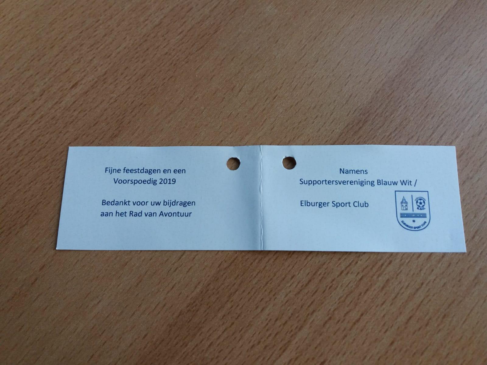 Supportersvereniging Blauw-Witbedankt haar sponsoren - Elburger SC