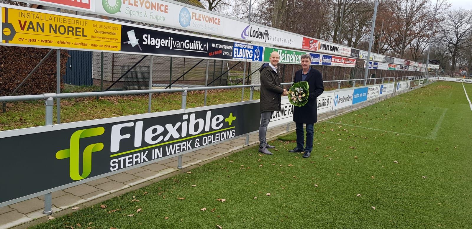 ESC verwelkomt nieuwe bordsponsor Flexible+ - Elburger SC