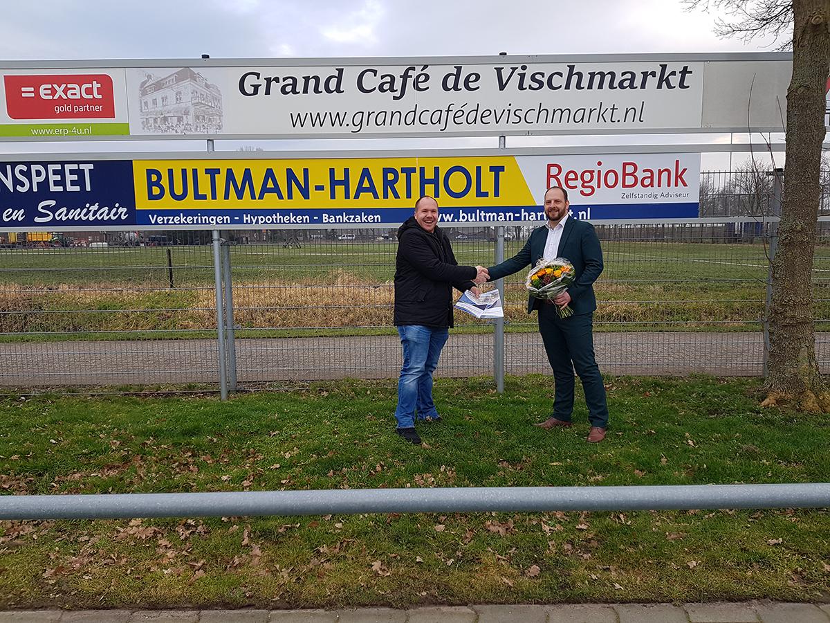 Bultman-Hartholt Assurantiën & Hypotheken tekent 4-jarig contract - Elburger SC