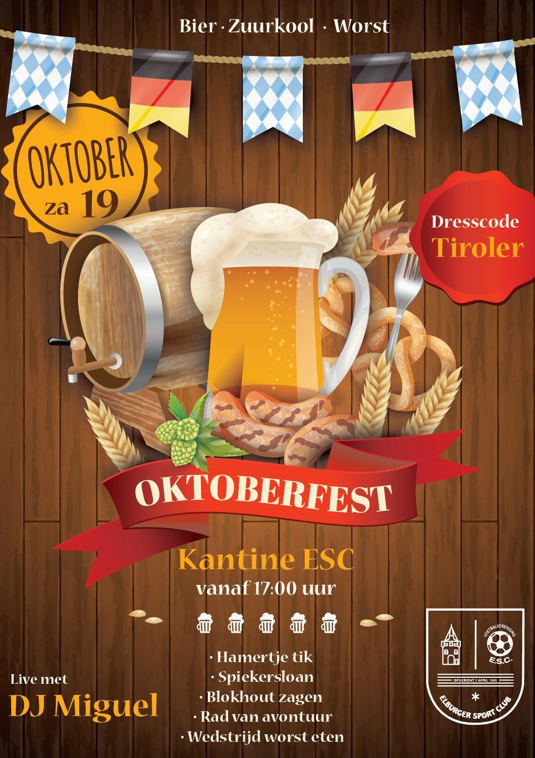 As. zaterdag oktoberfest kantine ESC - Elburger SC