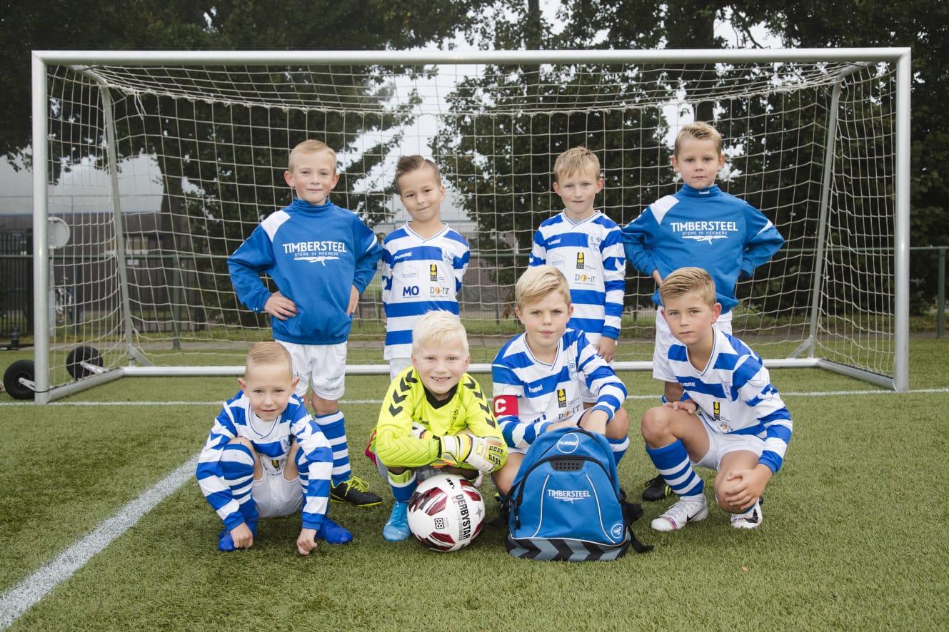 Timbersteel Hekwerk sponsort ESC JO8-1 - Elburger SC