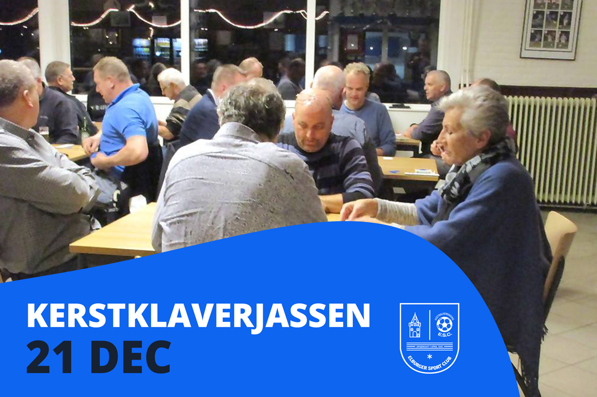 Kerstklaverjassen op zaterdag 21 december - Elburger SC
