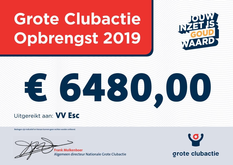 Uitslag Grote Clubactie - Elburger SC