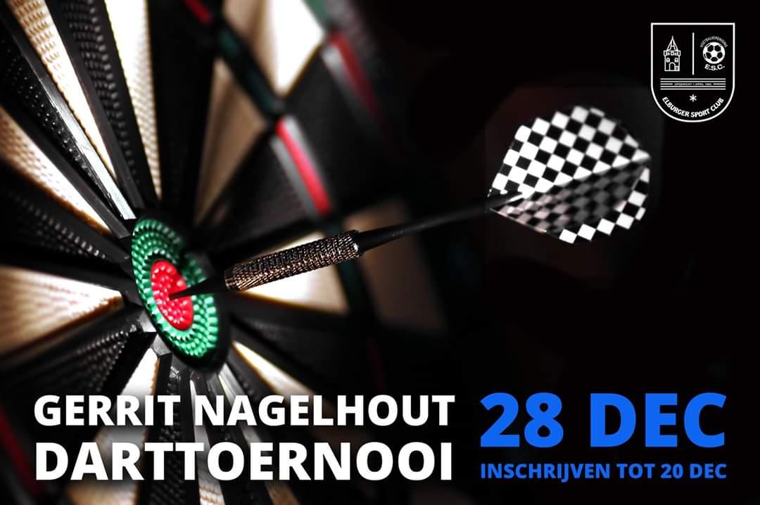 Gewijzigde aanvangstijd Gerrit Nagelhout Darttoernooi bij ESC - Elburger SC