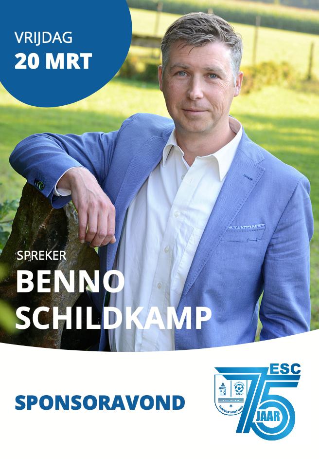Sponsoravond met Benno Schildkamp op 20 maart a.s. - Elburger SC