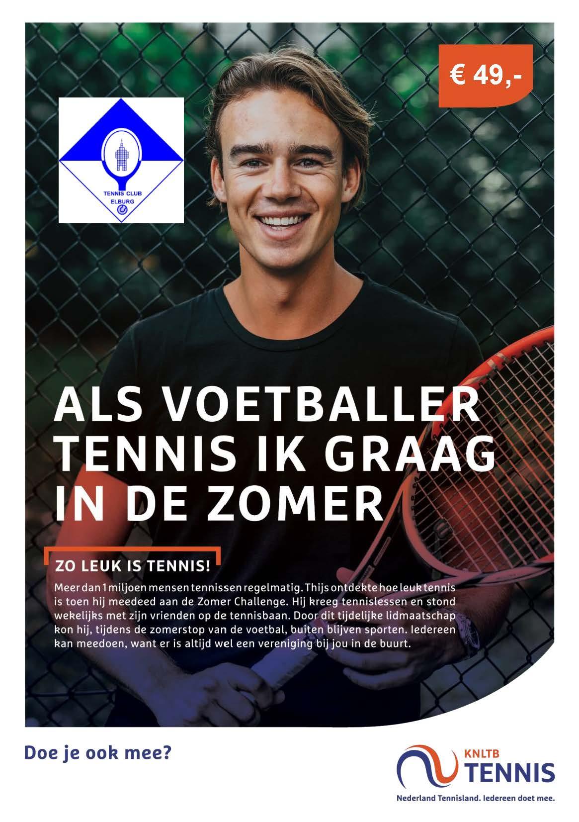 Blijf fit met de zomer challenge van TC Elburg - Elburger SC
