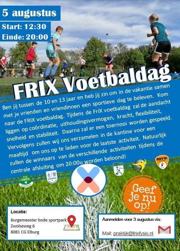 Meld je nu aan voor de Frix voetbaldag! - Elburger SC