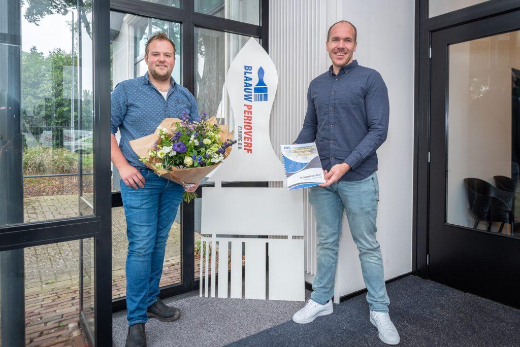 ElburgerSC - Hoofdsponsor Blaauw Perioverf Elburg B.V. verlengt sponsorcontract met 1 jaar