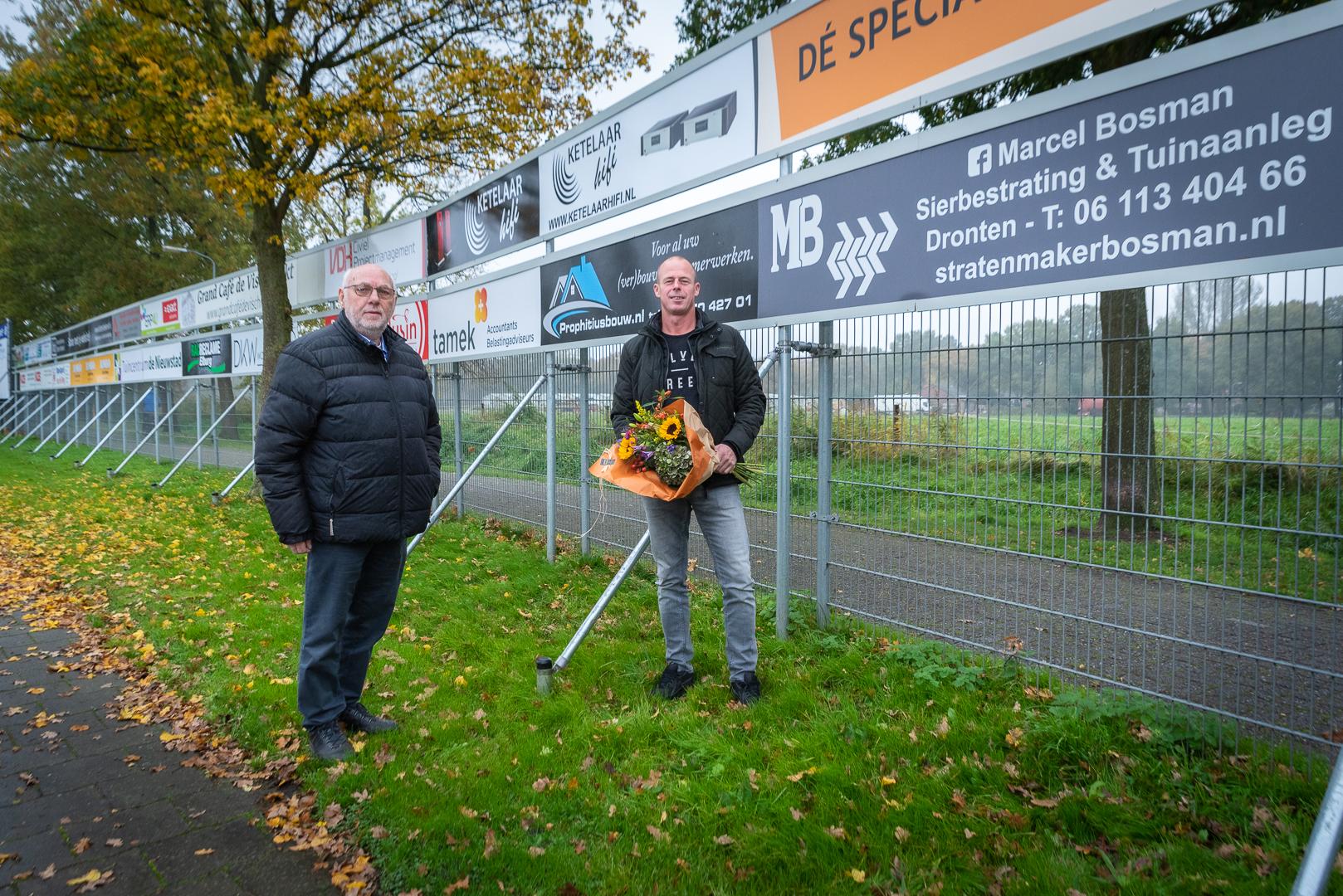 Elburger SC verwelkomt Stratenmaker Marcel Bosman als nieuwe sponsor - Elburger SC