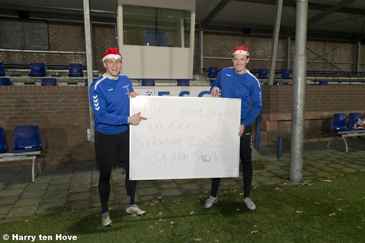 Kerstgroeten en nieuwjaarswensen 2021, eerste selectie ESC - Elburger SC