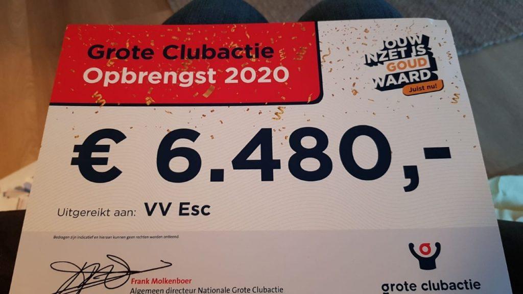 ElburgerSC - Grote Clubactie levert 6480,- euro op