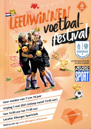 Meld je aan voor het Leeuwinnen Voetbalfestival en neem een vriendin mee! - Elburger SC