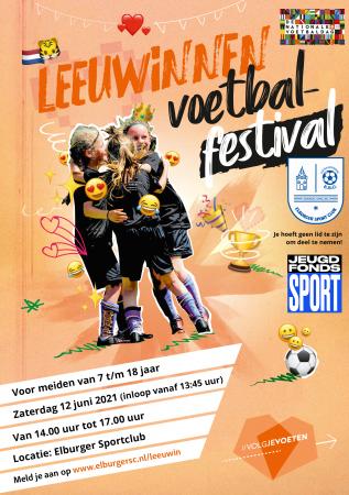 Meld je nu aan voor het Leeuwinnen Voetbalfestival op 12 juni a.s.! - Elburger SC