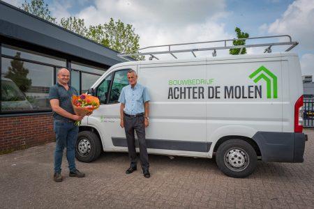 Bouwbedrijf Achter de Molen nieuwe bordsponsor - Elburger SC