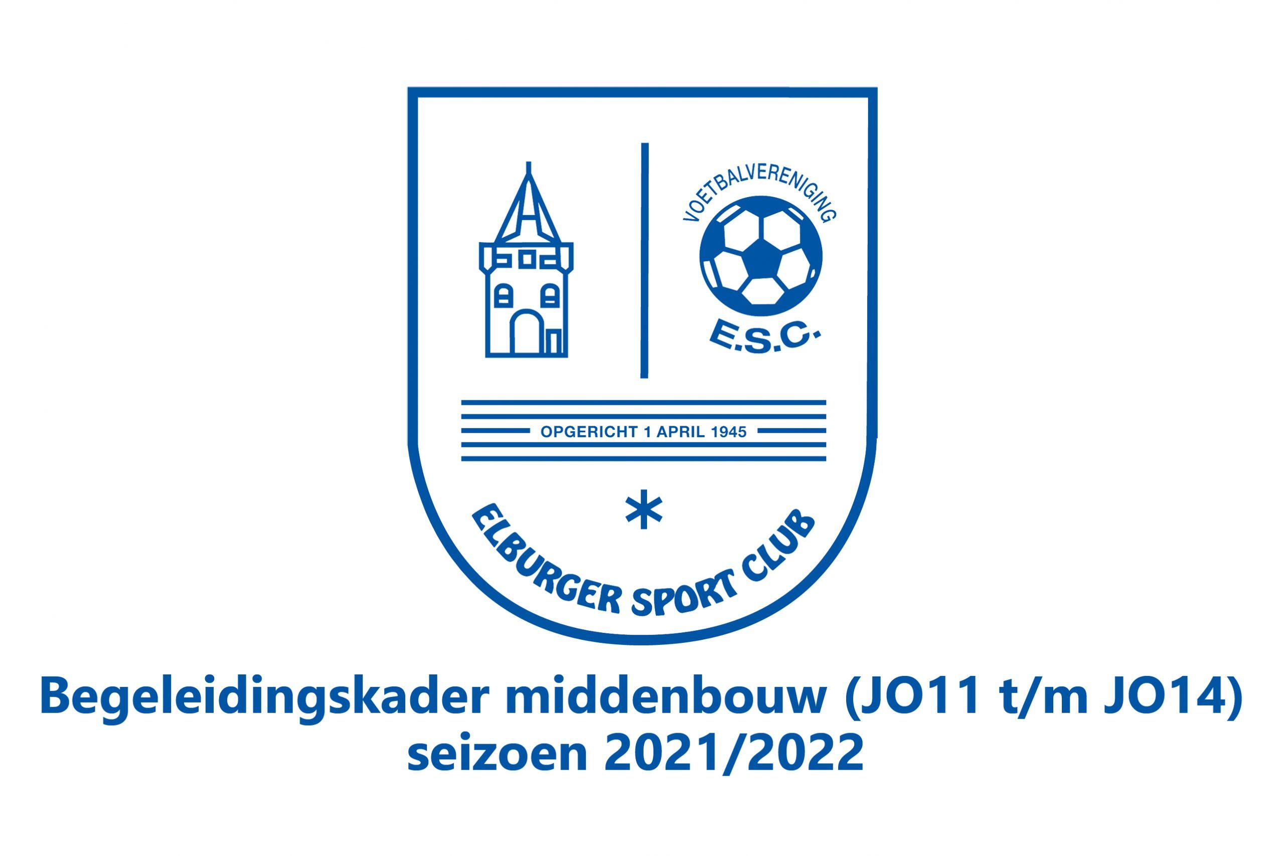 ElburgerSC - Begeleidingskader middenbouw (JO11 t/m JO14) voor seizoen 2021/2022 bekend!