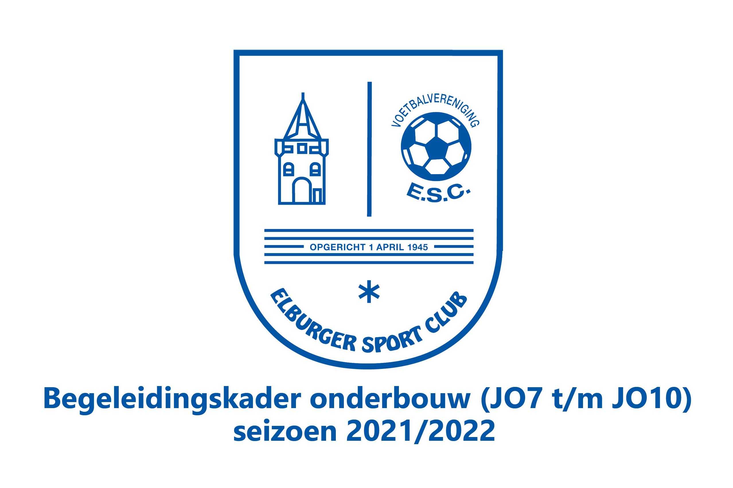 ElburgerSC - Begeleidingskader Onderbouw (JO7 t/m JO10) voor seizoen 2021/2022 bekend!